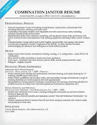 Examples Of Combination Resumes Cool Example Of Janitorial Resume And Classic Resume Example Janitor