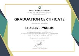 Sample Certificates Templates Certificate Template Certificate Of Graduation Sample Certificate