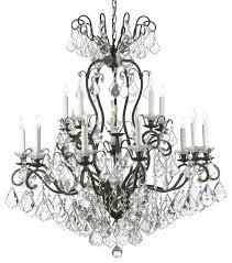 swarovski crystal trimmed wrought iron crystal chandelier