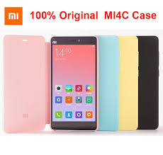 100% Original Xiaomi Mi4C <b>Case Smart Flip</b> PU <b>Leather</b> Hybrid ...