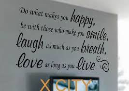 do what makes you happy smile laugh love live quote vinyl art wall word decal stencil living room note mural decoration s m l in wall stickers from home  on stencil wall art quotes with do what makes you happy smile laugh love live quote vinyl art wall