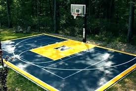 basketball court paint template outdoor tiled courts backyard lines painter bask basketball court line painting