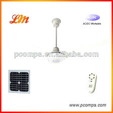 solar power ceiling fans solar operated 3 metal blades dc motor