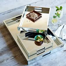 Decorating With Trays On Coffee Tables Elegant Mirrored Coffee Table Tray 100 in Home Decoration Ideas with 92