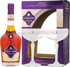 courvoisier vsop gift pack 2 cocktail coupe glasses