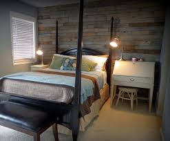 wooden pallet rustic bedroom wall