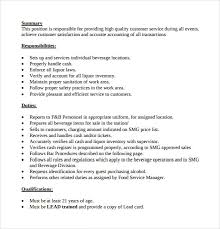 Bartender Duties For Resume Classy Job Description Of A Bartender For Job Description Of Bartender For