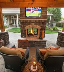 double sided fireplace paradisered com landscaping blog