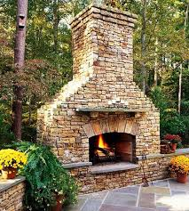 how to build an outdoor fireplace stone