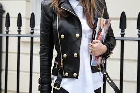 balmain h m leather jacket