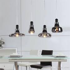 modern brief shadows led crystal glass cord pendant light smoke gray dining room bar e27 edison chandeliers light modern lighting pendants modern hanging