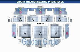 Grandel Theatre Seating Chart Seating Chart The Grand