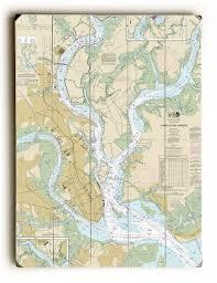 Charleston Nautical Chart Sc Charleston Sc Nautical Chart Sign