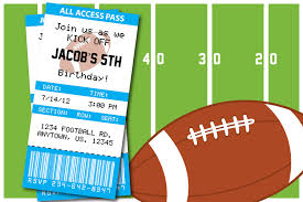 Free Football Invitation Templates Free Football Invitation Template