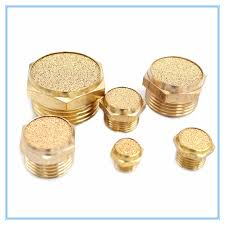 "<b>Copper</b> fitting M5 <b>1/8</b>"" <b>1/4</b>"" <b>3/8</b>"" 1/2"" Pneumatic Brass Exhaust Muffler ..."