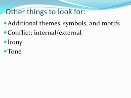 notes on lord of the flies published in william golding the 5 other things to look for additional themes symbols and motifs conflict internal external irony tone