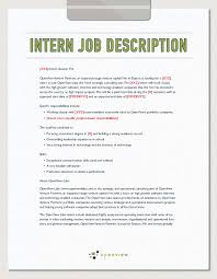 intern job description template and hiring plan openview labs intern job description