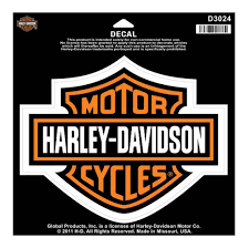 harley davidson bar shield large decal large size sticker d3024