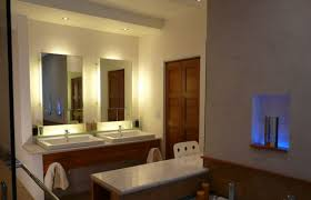 recessed lighting for bathrooms. Wonderful Recessed View In Gallery Backlit Vanity Mirrors Look All The More Beautiful With  Tiny Recessed Lights Above In Lighting For Bathrooms
