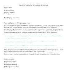 Sample Termination Letter For Poor Performance Employee Write Up