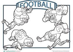 Coloring Pages Football Football Coloring Pages Printables Education Com
