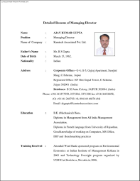 Detailed Resume Template Fascinating Detailed Resume Template Free Resume Templates 48