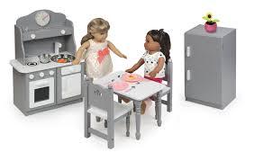 Badger Basket Kitchen Furniture Set For 18 Inch Dolls Graywhite