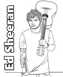 Ed Sheeran To Color On Topcoloringpagesnet Unbedingt Kaufen