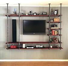 rustic shelf ideas entertainment unit wall units entertainment shelving ideas rustic entertainment center wall mounted industrial