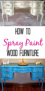 painted wood furnitureHow To Spray Paint Wooden Furniture  Finding Silver Linings