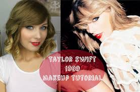 Taylor Swift New Hair Style taylor swift 1989 make up tutorial rebecca smile youtube 2732 by stevesalt.us
