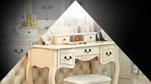tribesigns french vintage ivory white vanity dressing table set makeup desk