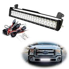 2001 Ford F250 Light Bar Ijdmtoy Lower Grille 20 Inch Led Light Bar Kit For 2011 16 Ford F250 F350 Super Duty Includes 1 120w High Power Led Lightbar Lower Bumper Opening