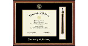 University Of Illinois Tassel Edition Diploma Frame In Newport