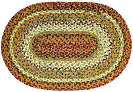 hsd pumpkin pie oval cotton braided rug lrg