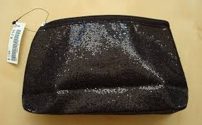 makeup bag from h m sparkling black