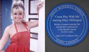 A blue plaque for a blue lady: Risqué film star Mary Millington honoured |  Films | Entertainment | Express.co.uk