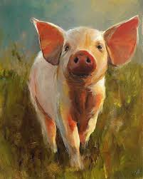 morning pig painting by cari humphry morning pig fine art prints and posters for for the home fine art prints art prints and prints