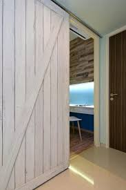 contemporary home office sliding barn. Extraordinary View In Gallery Barn Doors A Beach Home Contemporary Office Sliding Door