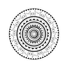 Plakát Ilustrace Maori Tetování Na Zádech Zaoblené