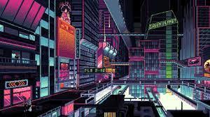 2560x1440 Cyberpunk City Pixel Art ...