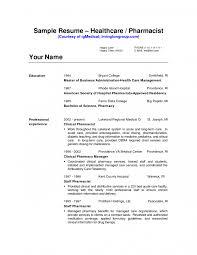 Cover Letter Hospital Pharmacist Resume Sample Hospital Pharmacist