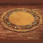 contemporary round rugs