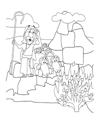 Small Picture Moses and the Exodus Coloring Pages