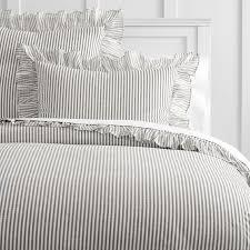 the emily meritt ruffle stripe duvet cover sham