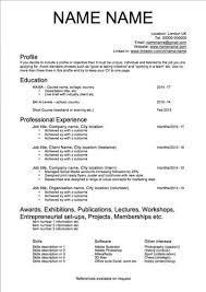 Cv Template Artist Cv Template Artist Resume Artist Cv