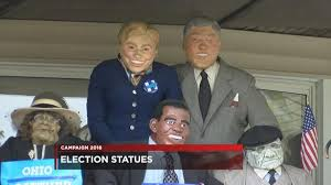 Statues of Pres. Obama, Bill Clinton and others on Cleveland's eastside