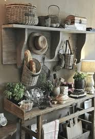 rustic country farmhouse kitchen decor storage ideas natural wood baguette basket barn renovation inspired