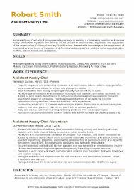 Assistant Chef Resumes Assistant Pastry Chef Resume Samples Qwikresume