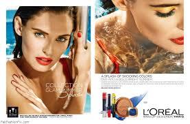 bianca balti for l oreal paris glam summer splash makeup caign photo bellazon
